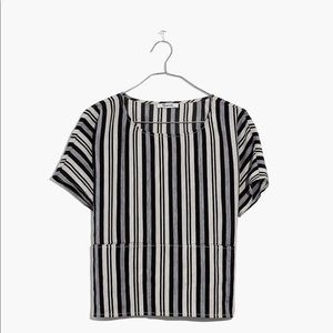 Madewell Boxy Top in Evelyn Stripe